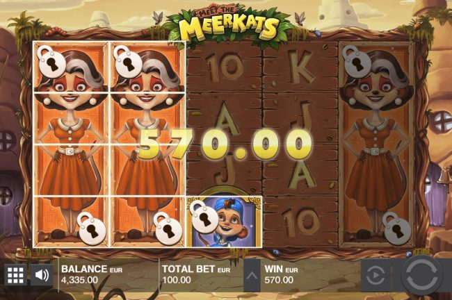 Cbet featuring the Video Slots Meet the Meerkats with a maximum payout of $30,000