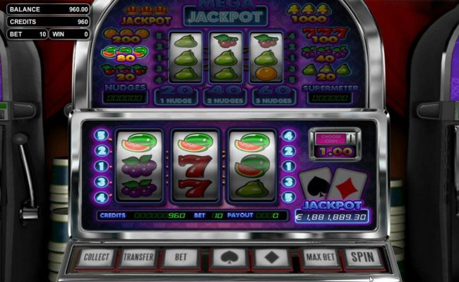 BetOnline featuring the Video Slots Mega Jackpot with a maximum payout of Jackpot