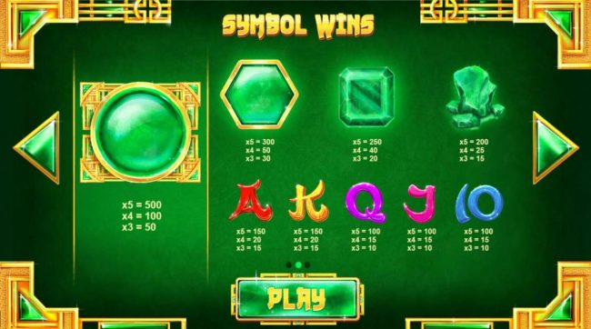Lucky Dino featuring the Video Slots Mega Jade with a maximum payout of $25,000