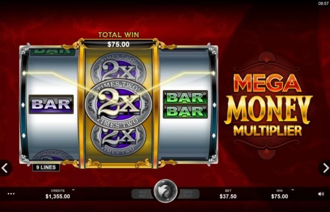 Casino France Net featuring the Video Slots Mega Money Multiplier with a maximum payout of $100,000