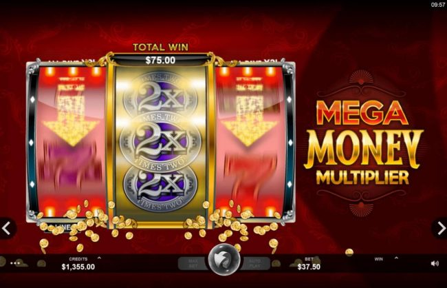 Play slots at Grand Hotel: Grand Hotel featuring the Video Slots Mega Money Multiplier with a maximum payout of $100,000