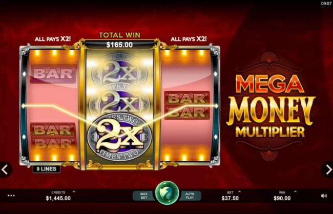 VipSpel featuring the Video Slots Mega Money Multiplier with a maximum payout of $100,000