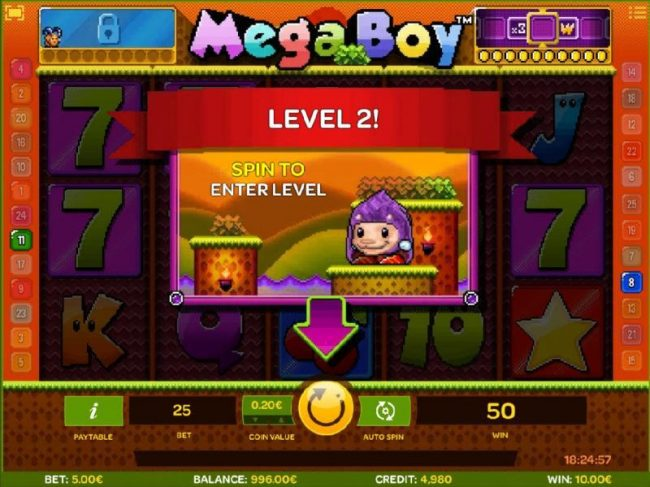 Dasistcasino featuring the Video Slots Mega Boy with a maximum payout of $30,000