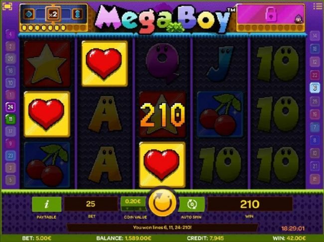 Play slots at Slotman: Slotman featuring the Video Slots Mega Boy with a maximum payout of $30,000