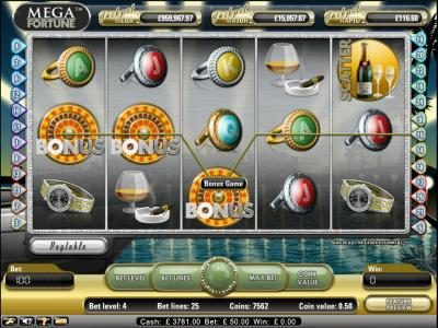 Euro Slots featuring the Video Slots Mega Fortune with a maximum payout of $20,000