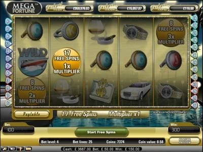 Play slots at ZigZag777: ZigZag777 featuring the Video Slots Mega Fortune with a maximum payout of $20,000