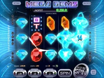 Play slots at Real Bet: Real Bet featuring the Video Slots Mega Gems with a maximum payout of Jackpot