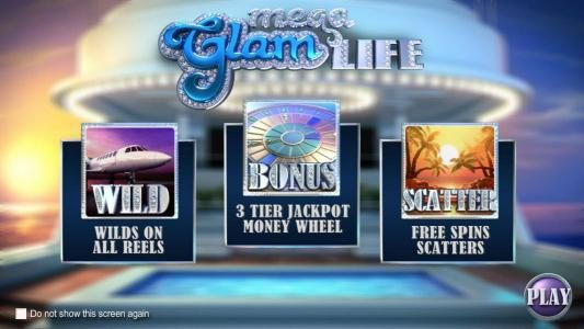 Grand Eagle featuring the Video Slots Mega Glam Life with a maximum payout of Jackpot