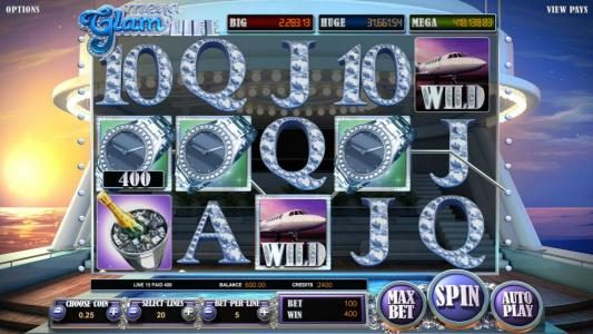 Wicked Bet featuring the Video Slots Mega Glam Life with a maximum payout of Jackpot