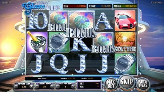 Drake featuring the Video Slots Mega Glam Life with a maximum payout of Jackpot