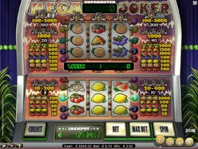 Play slots at Roy Richie: Roy Richie featuring the Video Slots Mega Joker with a maximum payout of $400