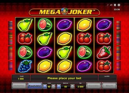 All British featuring the Video Slots Mega Joker with a maximum payout of $1,000,000
