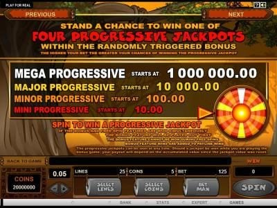 Play slots at Royal Vegas: Royal Vegas featuring the Video Slots Mega Moolah 5 Reel Drive with a maximum payout of $1,000,000