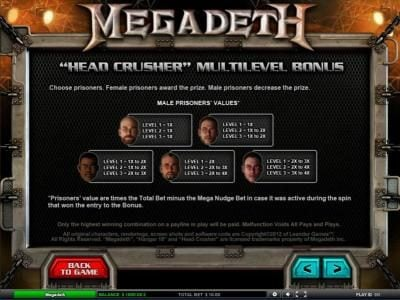 head crusher multilevel bonus rules and pays