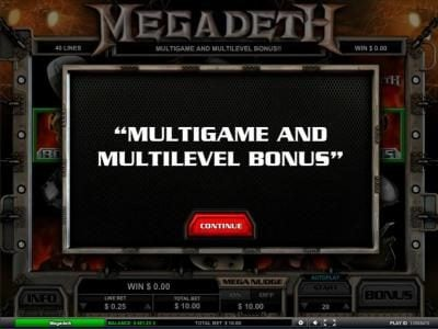 Amsterdam Casino featuring the Video Slots Megadeth with a maximum payout of $5,000