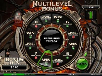 multilevel bonus game board