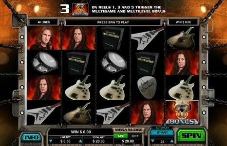 Play slots at HippoZino: HippoZino featuring the Video Slots Megadeth with a maximum payout of $5,000