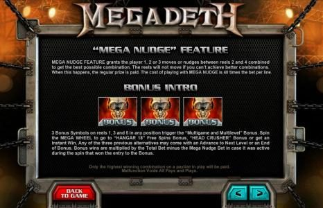 Shadowbet featuring the Video Slots Megadeth with a maximum payout of $5,000
