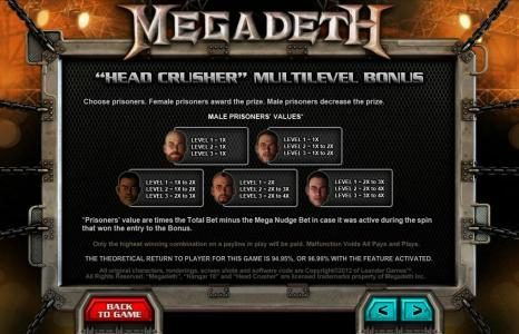 10Bet featuring the Video Slots Megadeth with a maximum payout of $5,000