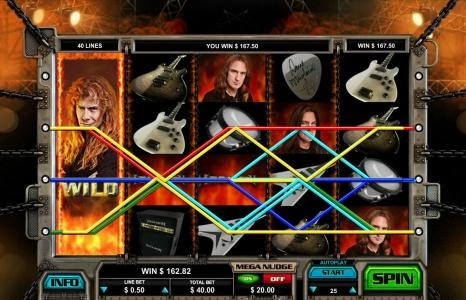 Leo Vegas featuring the Video Slots Megadeth with a maximum payout of $5,000