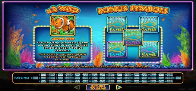 Bovada featuring the Video Slots Megaquarium with a maximum payout of $12,500