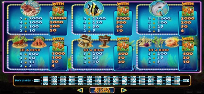 Play slots at Planet7 Oz: Planet7 Oz featuring the Video Slots Megaquarium with a maximum payout of $12,500