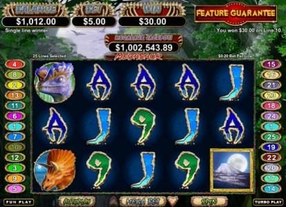 iNET Bet featuring the Video Slots Megasaur with a maximum payout of $250,000