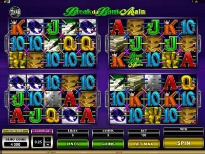 EypoBet featuring the Video Slots MegaSpin - Break Da Bank Again with a maximum payout of $22,500