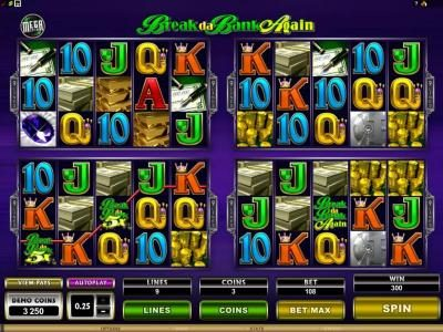 Wild Slots featuring the Video Slots MegaSpin - Break Da Bank Again with a maximum payout of $22,500