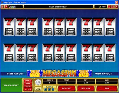 Play slots at Casino-X: Casino-X featuring the Video Slots MegaSpin - Double Magic with a maximum payout of $8,000