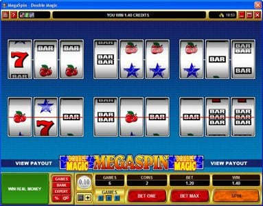 Virtual City featuring the Video Slots MegaSpin - Double Magic with a maximum payout of $8,000