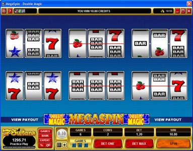 Winner Million featuring the Video Slots MegaSpin - Double Magic with a maximum payout of $8,000