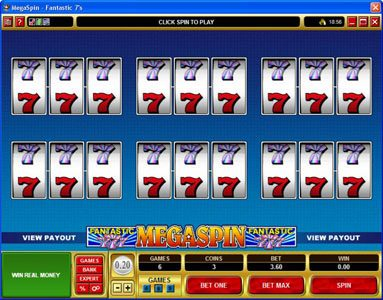 Casino Mate featuring the video-Slots MegaSpin - Fantastic 7's with a maximum payout of $37,500