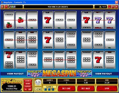 Phoenician featuring the video-Slots MegaSpin - Fantastic 7's with a maximum payout of $37,500