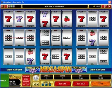 Maple featuring the video-Slots MegaSpin - Fantastic 7's with a maximum payout of $37,500