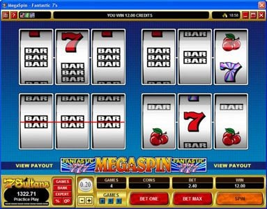 Euro Palace featuring the video-Slots MegaSpin - Fantastic 7's with a maximum payout of $37,500