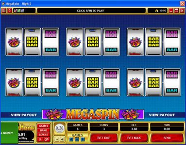 Play slots at Betway: Betway featuring the Video Slots MegaSpin - High 5 with a maximum payout of $75,000