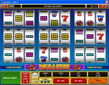 Crazy vegas featuring the Video Slots MegaSpin - High 5 with a maximum payout of $75,000