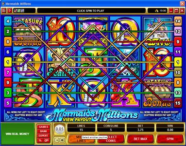 21 Jackpots featuring the Video Slots MegaSpin - Major Millions with a maximum payout of Jackpot