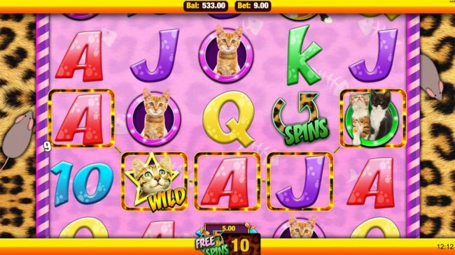 Mobireels featuring the Video Slots Meow Money with a maximum payout of $22,500
