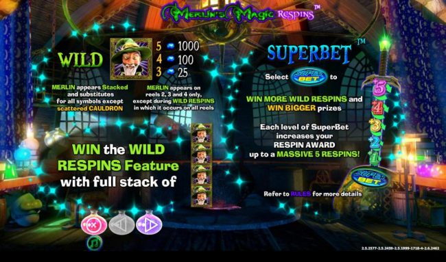 Wild Symbol Rules and Super Bet Rules