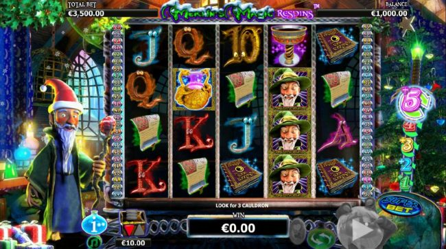 Napoli featuring the Video Slots Merlin's Magic Respins Christmas with a maximum payout of $10,000