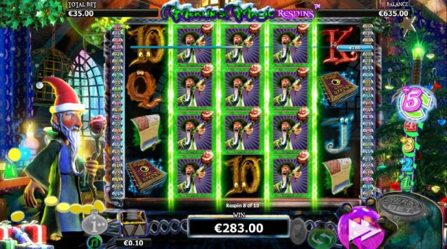 Play slots at Money Reels: Money Reels featuring the Video Slots Merlin's Magic Respins Christmas with a maximum payout of $10,000
