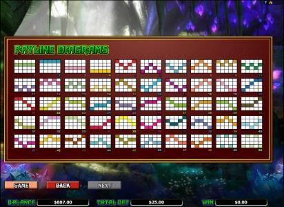 Merlin's Millions :: payline diagrams