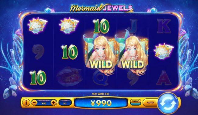 Mermaid Jewels :: Multiple winning combinations triggers a big win