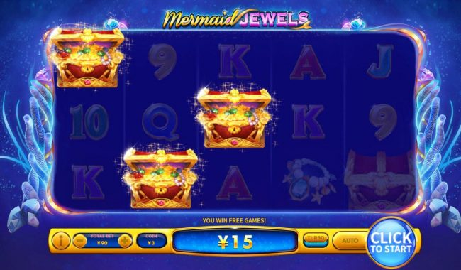 Mermaid Jewels :: Free Games feature triggered