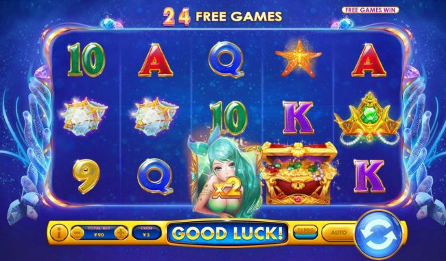 Mermaid Jewels :: Free Spins Game Board