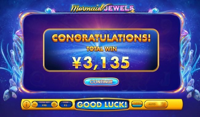Mermaid Jewels :: Total Free Games Payout 3135 Coins