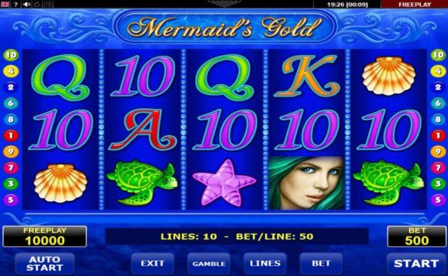 Mermaid's Gold :: Main Game Board