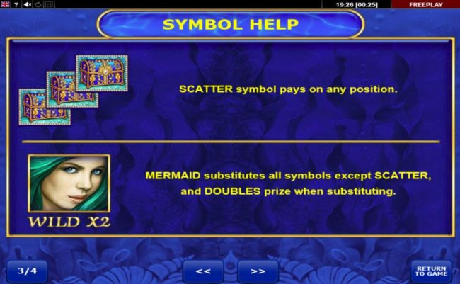 Mermaid's Gold :: Wild and Scatter Symbols Rules and Pays